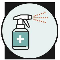 Pulizia e igienizzazione quotidiana